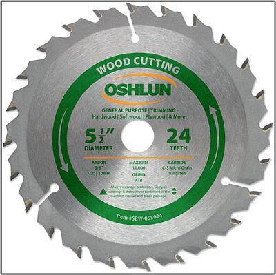 Oshlun Sbw-055024 - 5-12 X 24t General Purpose Circular Saw Blade