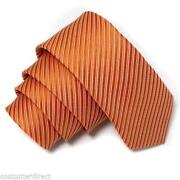 Mens Orange Silk Ties
