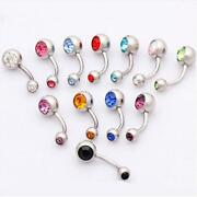 Double Gem Belly Ring