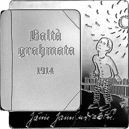 "2014 Latvia € 5 Euro Silver Proof Coin ""The White Book"""