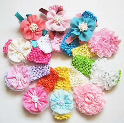 10pcs Kids Baby Girl Toddler Cute Flower Headband Hair Band Headwear Accessories
