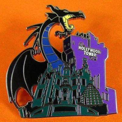 Disney Pin WDW - Storybook Night - Maleficent at Haunted Mansion & Tower Terror