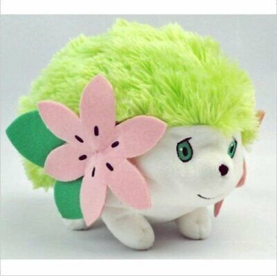 Shaymin Pokemon Plush Toy Green Fluffy Stuffed Animal Figure Doll 9'' US Stock