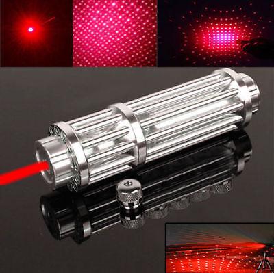 High Power Military Red Laser Pointer Pen 1W 650nm Burn Beam Pen Light &Star Cap for sale  USA