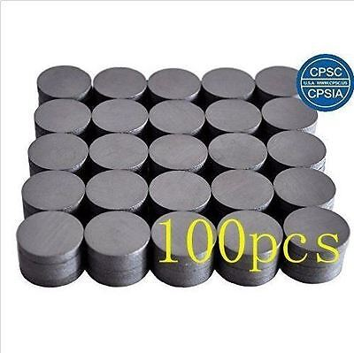 """3/4"""" Round Ceramic Industrial Ferrite Magnets 100 pcs -BRAND NEW- FREE SHIPPING"""
