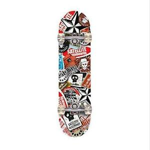 Used Winmax Outdoor Professional Heat Transfer Pattern Maple Skateboard with Carrying Case PICKUP ONLY - PU4