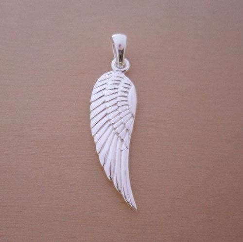 guardian angel silver wing jewelry pendant
