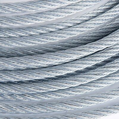 """3/8"""" Galvanized Aircraft Cable Steel Wire Rope 7x19 (250 Feet)"""