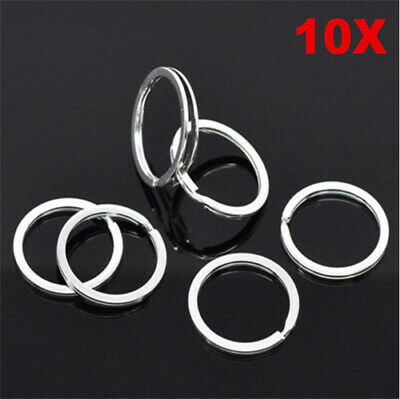 Lots 10pcs Metal Key Holder Split Rings Keyring Keychain Keyfob Accessories New