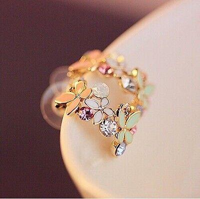 1 Pair New Fashion Women Lady Elegant Crystal Rhinestone Ear Stud Earrings