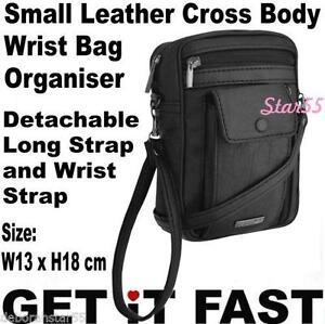 Black Leather Organiser Handbag