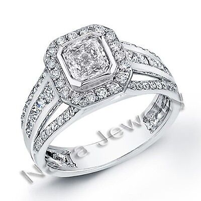 1.79 Ct. Radiant Cut Diamond Engagement Ring GIA