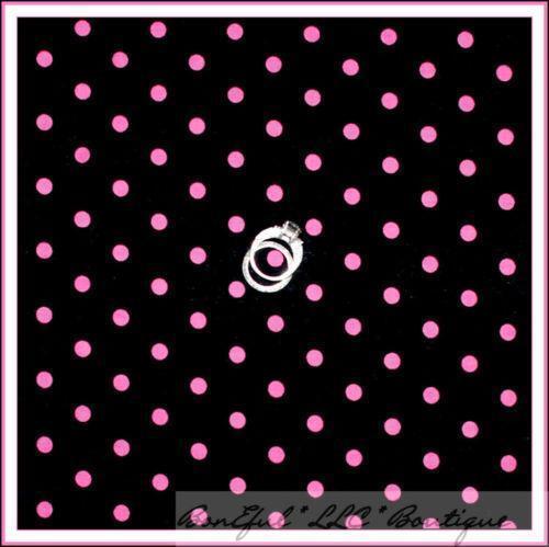 Pink Black Polka Dot Fabric Ebay