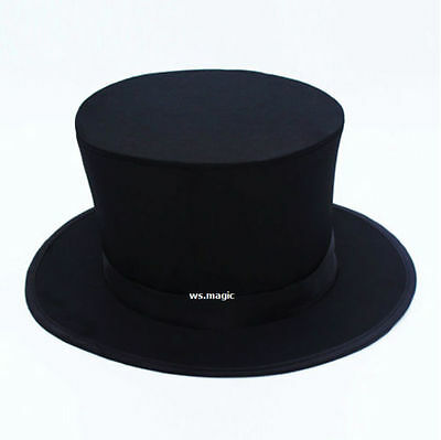 Black Folding Top Hat Magic Trick Magician Party Kids Show Stage Parlor Cheap JL