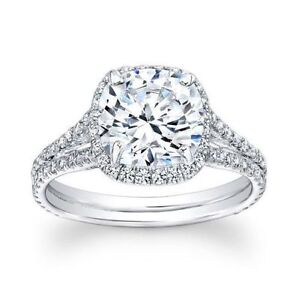 CERTIFIED 4.50 CT GENUINE D/SI1 DIAMOND HALO ENGAGEMENT RING