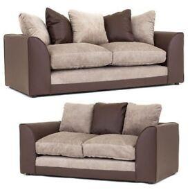 Stunning Brown and Beige sofa range
