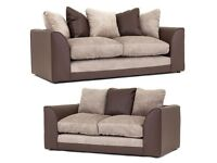 Stunning Brown and Beige sofa range