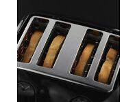 Russell Hobbs 4-Slice Toaster - Black - Recent Model