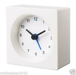 NEW IKEA VACKIS WHITE BATTERY OPERATED TRAVEL ALARM CLOCK
