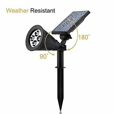 Solar Spotlights,Aootek 2-in-1 Waterproof Adjustable 4 LED Wall / Landscape 2pks Adjustable Landscape Spotlight