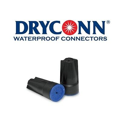 DryConn 61345 50 Pack Black/Blue Waterproof Connector Silicone King Innovation