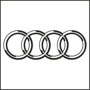audi logo transparent background. audi rings sticker logo transparent background