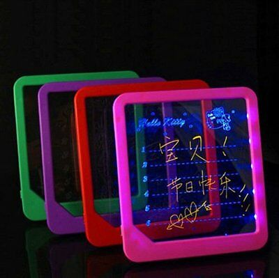 "Hot! 8""x9""LED Board Useful Writing Painting Massage Board Panel Fluorescent Pen"