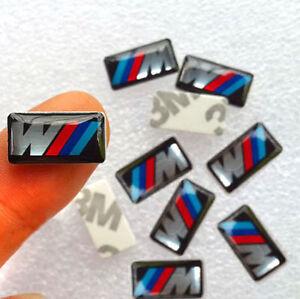 10x M Look Emblem Logo Sticker Aufkleber Felgen Interieur Lenkrad BMW Power