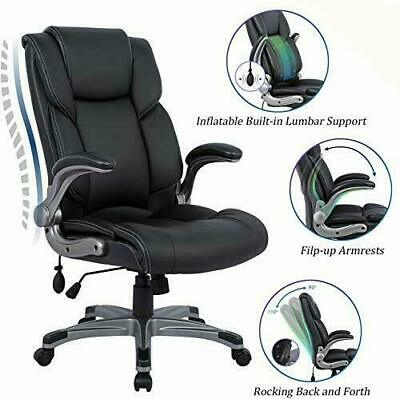 Big & Tall Leather Office Chair Adjustable Tilt Angle Executive (Black) for sale  Shipping to Nigeria