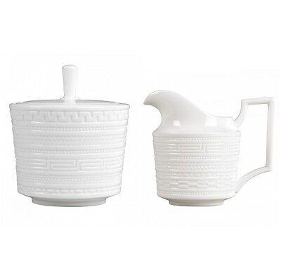 Wedgwood Intaglio Sugar Bowl and Creamer Set 2 piece Brand New with Tags 2 Piece Sugar Bowl