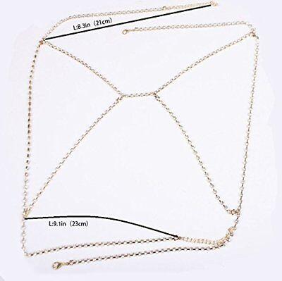 Shiny Rhinestone Crystal Bra Chest Women Body Chain