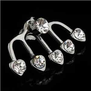 U-pick-1Pair-2pcs-Of-Earring-Cuff-Crystal-Stud-Wraps-Earrings-Pins