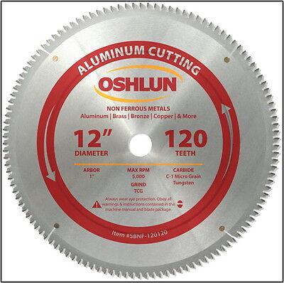 "OSHLUN  SBNF-120120  12"" x 120T Aluminum Cutting Saw Blade"
