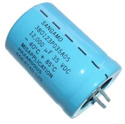 12000uf 35v Radial Electrolytic Capacitors Snap Mount Sangamo 3 Pcs