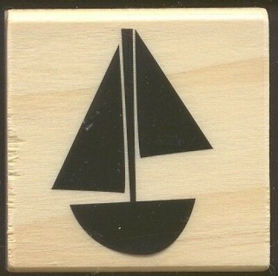 SAILBOAT Sail Design Background Boating NEW Medium Wood Mount CRAFT RUBBER - Medium Desktop Mount