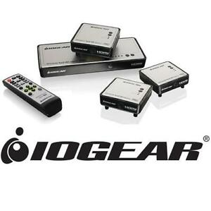 NEW IOGEAR WIRELESS HDMI MATRIX PRO 182976243 WITH 2 ADDITIONAL RECEIVERS