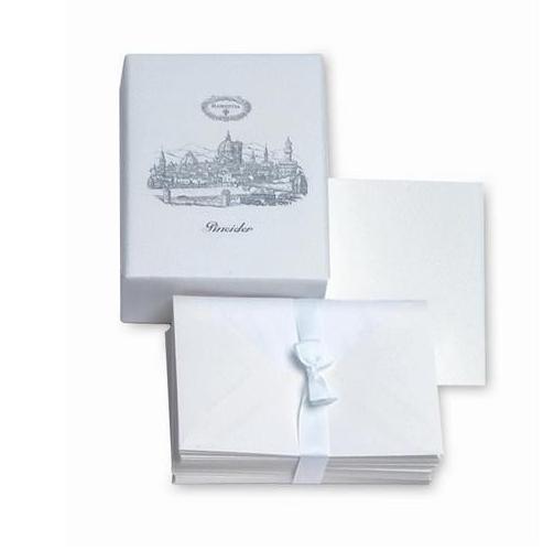 Pineider Florentia Box of 25 Cards & Envolepes, Form 20, Light Blue Greeting Cards & Invitations
