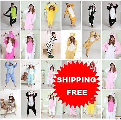 Big Sale  Unisex Adult Pajamas Kigurumi Cosplay Costume Animal Sleepwear Suit