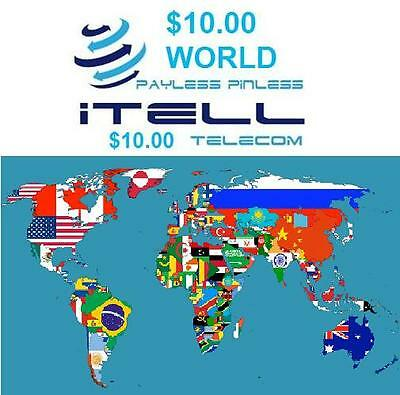 $10 International calling card No Expiration & Rewards with Each Recharge.