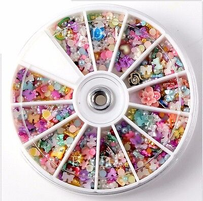 1200× Cabochon Decoden Scrapbooking Flatback Embellishments Resin Bow Beads Diy