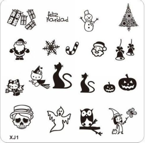 Happy-Xmas-Halloween-N-Nail-Art-DIY-Stamp-Stamping-Plate-Manicure-Stencil-X01