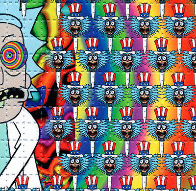 NEW Rick and Morty Trips BLOTTER ART sheet page tabs LSD Acid Free Art