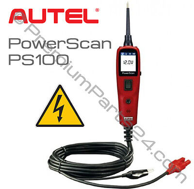 AUTEL PowerScan PS100 Stromkreistester Prüflampe Prüfsonde Multimeter 12/24 Volt