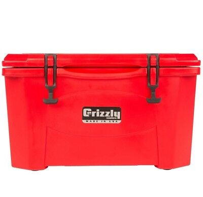 NEW Grizzly G60_RD 60QT Cooler with RotoTough Molded Construction - Red