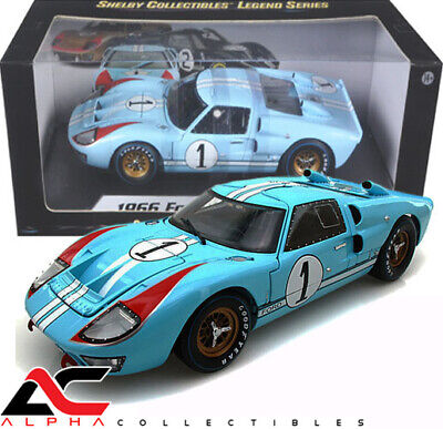 SHELBY COLLECTIBLE SC411 1:18 1966 FORD GT40 MKII KEN MILES 24HRS LeMANS