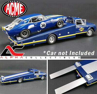 ACME A1801701 1:18 1967 CHEVROLET C-30 BLUE RAMP TRUCK SUNOCO RACING