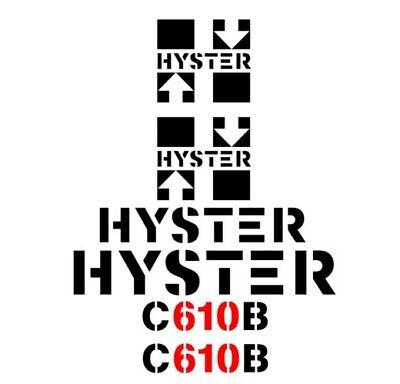 Hyster C610b Vibrator Smooth Drum Roller Vinyl Decals Stickers C 610 B