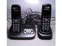 PANASONIC TWIN WIRELESS DECT PHONES WITH ANSWER MACHINE VGC