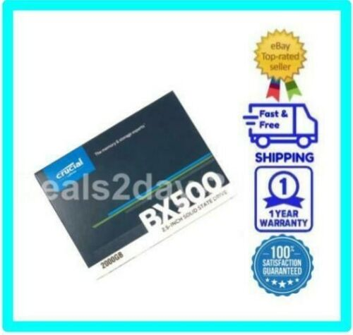 NEW Crucial BX500 2TB 3D NAND SATA 2.5-Inch Internal SSD CT2000BX500SSD1