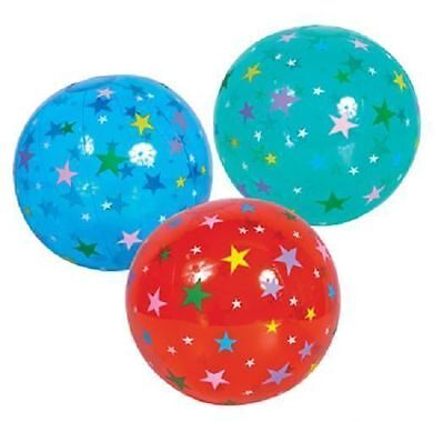 "STAR BEACH BALL 16"" Pool Party Beachball NEW #ST60 Free shipping"